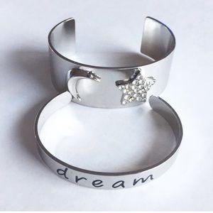 "Inspired Life 2-piece Bangle Bracelet Set ""dream"""